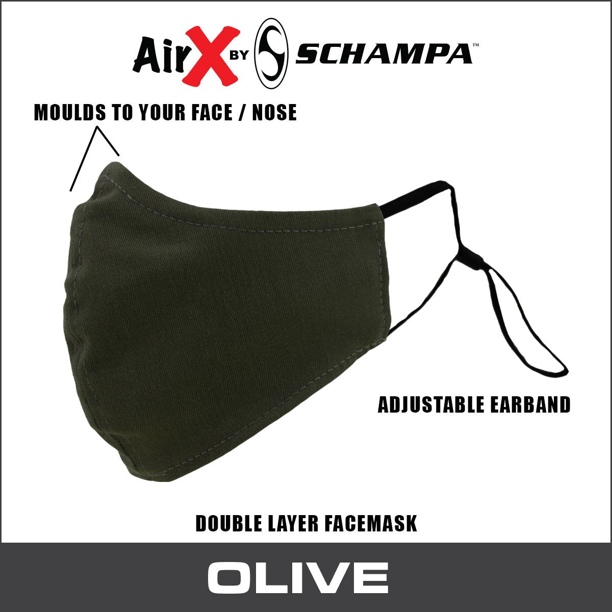 SCHAMPA Air X Facemask - Olive