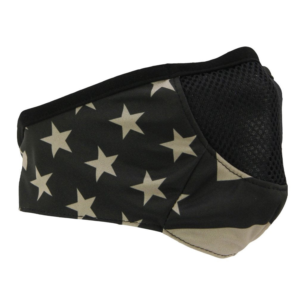 SCHAMPA Stealth Facefit Facemask - Patriot Traditional Tan Flag