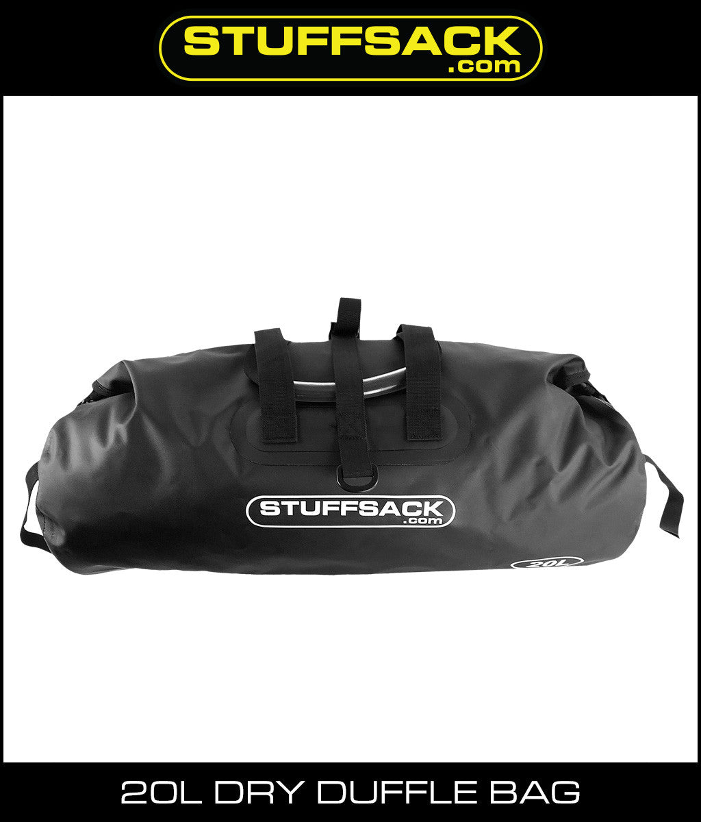 Stuffsack.com Dry Duffle Bag - 20L Black