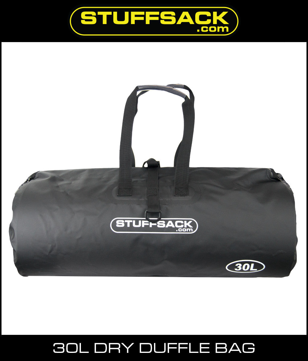 Stuffsack.com Dry Duffle Bag - 30L Black
