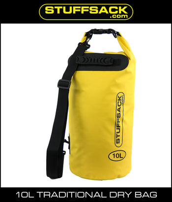 Stuffsack.com Traditional Dry Bag - 10L Yellow