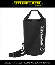 Stuffsack.com Traditional Dry Bag - 30L Black