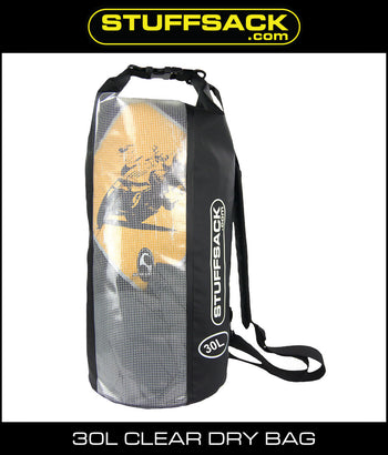 Stuffsack.com Easy View Dry Bag - 30L Black