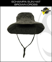 SCHAMPA Sun Hat - Brown Cross