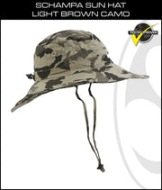 SCHAMPA Sun Hat - Light Brown Camo