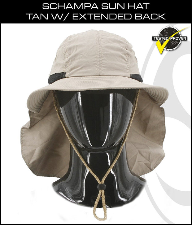 SCHAMPA Sun Hat - Tan w/ Extended Back