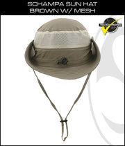SCHAMPA Sun Hat - Brown w/ Mesh