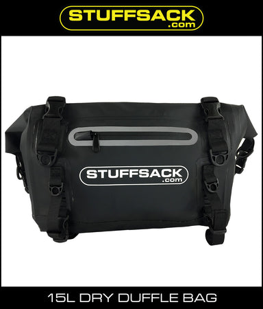 StuffSack Dry Duffle Bag - 15L Black