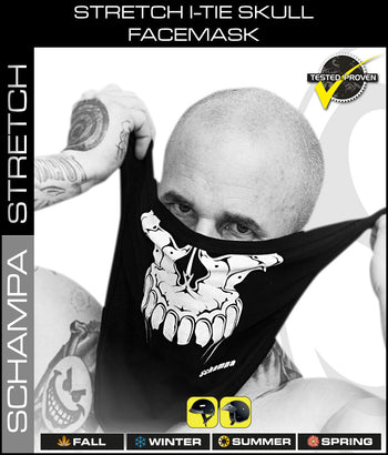 Stretch I-Tie Skull Facemask