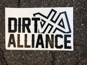 "Dirt Alliance Stacked 12"" Decal Sticker"