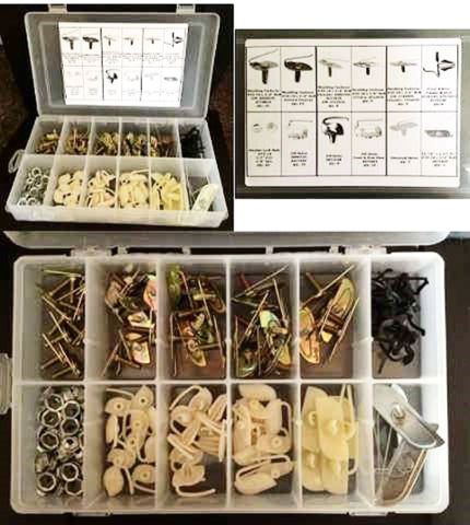 130 Piece Assorted Body Side Molding Fastener Kit