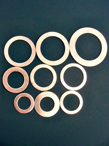 9pc Copper Oil Drain Plug Gasket Sealing Washer Kit