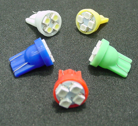 Instrument Panel LED's 4 SMD Wedge Super Bright 194 Choose Color