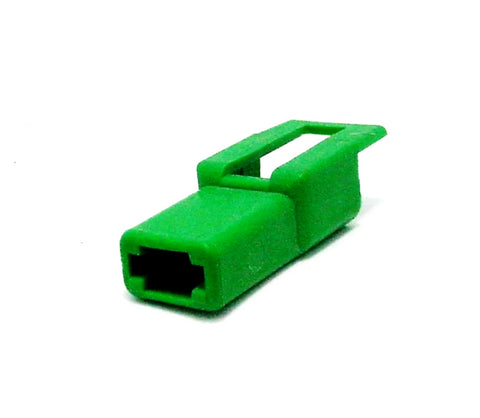 1 Way Connector Housing w/Latch Male Green Delphi, Packard, 56 Series 12015256