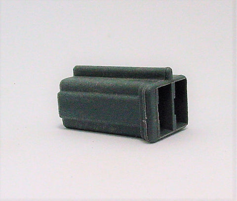 2 Way Terminal Housing with Groove Female Gray Delphi, Packard, Terminal Housing, Connector Housing, 56 Series 12015980