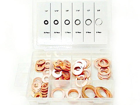 81pc Brake Hose Caliper Copper Crush Sealing Washer Kit