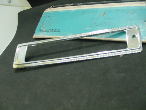 1971-73 Buick Electra 225 LH Chrome Rear Side Marker Bezel NOS #5963935