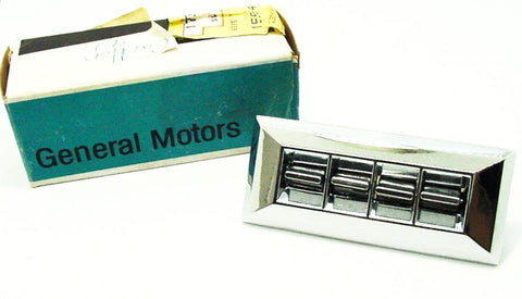 NOS 4 Button Power Window Switch Diecast Chrome Buick Riviera 1971-1972 GM#1731231