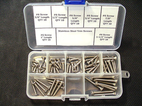 #6 #8 #10 Stainless Steel Phillips Oval Head Automotive Trim Screws-Choose From 3 Kits