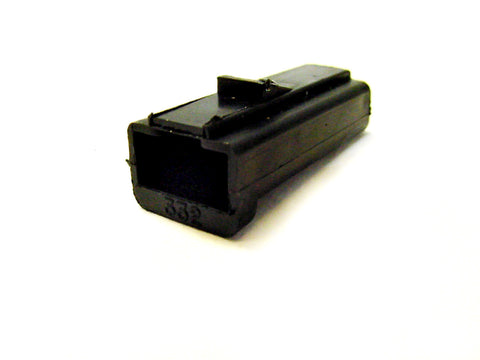1 Way Terminal Housing w/Lock Female Black Delphi, Packard, 56 Series 02977253