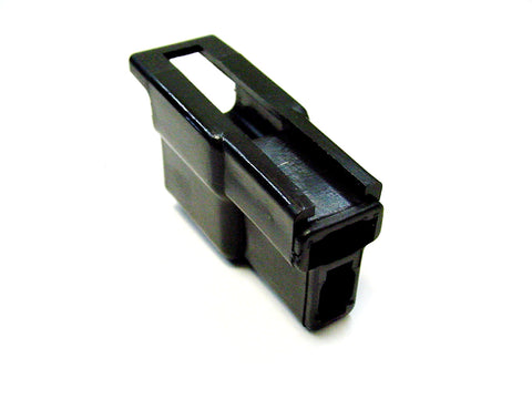 2 Way Terminal Housing T Shaped with Hook Latch Male Black Delphi, Packard, 56 Series 2984883