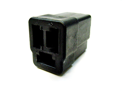 3 Way Terminal Housing Female Black Delphi Packard, Terminal Housing, Connector Housing, 56 Series 02973386-B