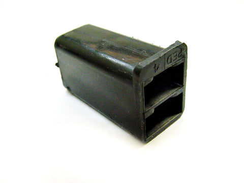 2 Way Terminal Housing Female Black Delphi, Packard, 56 Series 06288186