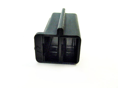 2 Way Black Female Housing with Side Locator Pin Delphi, Packard, 56 Series 02973872-B