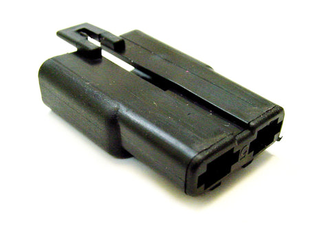 2 Way Terminal Housing with Locator Pin Male Black Delphi, Packard, 56 Series 08900826