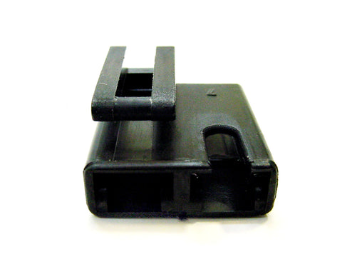 2 Way Terminal Housing With Hook Latch and 1 Pin Groove Female Black