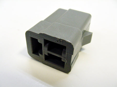 3 Way Terminal Housing Female Gray Delphi Packard, Terminal Housing, Connector Housing, 56 Series 02977045-B