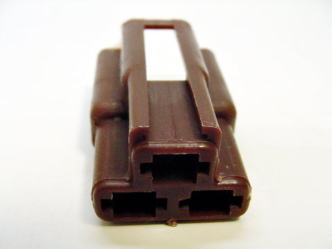 3 Way Terminal Housing Male Brown Delphi Packard, Terminal Housing, Connector Housing, 56 Series 08905117-B