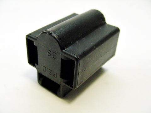 3 Way Terminal Housing Female Black Delphi Packard, Terminal Housing, Connector Housing, 56 Series 2965810-B