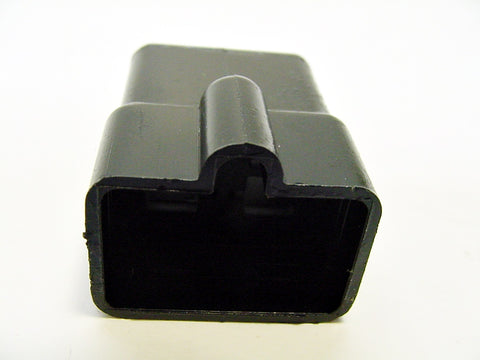 4 way terminal housing male black Delphi Packard, Terminal Housing, Connector Housing, 56 Series 02973603-b