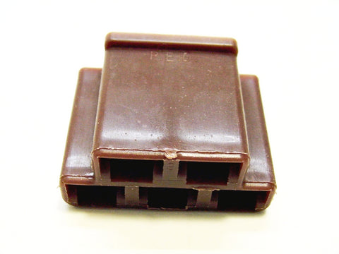 5 Way Terminal Housing Female Brown Delphi Packard, Terminal Housing, Connector Housing, 56 Series 12004327-B
