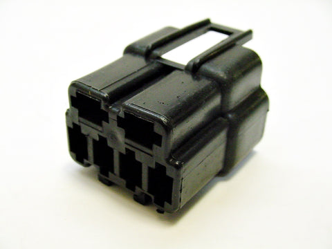 6 way Male Black Nylon Wire Harness Connector Housing Plug