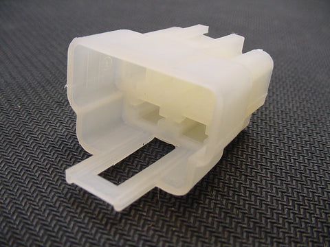 6 Way Terminal Housing Male White Delphi Packard, Terminal Housing, Connector Housing, 56 Series 02973903