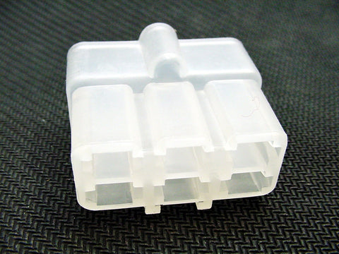 6 Way Terminal Housing Male White Delphi Packard, Terminal Housing, Connector Housing, 56 Series 02977042-B