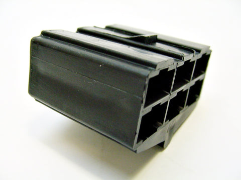6 Way Terminal Housing Female Black Delphi Packard, Terminal Housing, Connector Housing, 56 Series 0297704