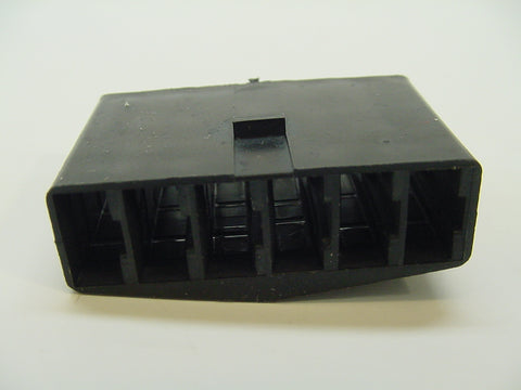 6 Way Terminal Housing With Groove Female Black Delphi Packard, Terminal Housing, Connector Housing, 56 Series 6288538