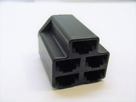 5 Way Terminal Housing Female Black Delphi Packard, Terminal Housing, Connector Housing, 56 Series 2973422