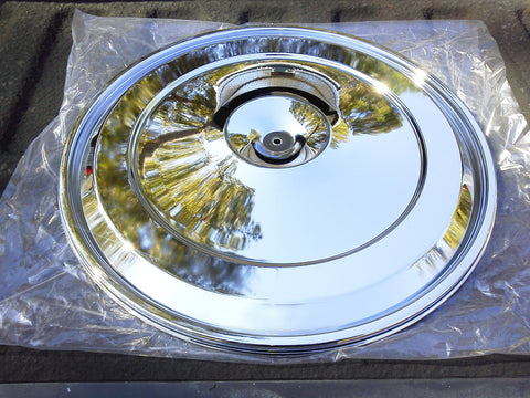"Oldsmobile 1968-1972 17"" Chrome Air Cleaner Lid"