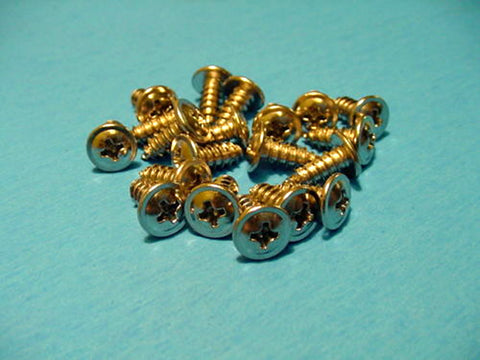 "Qty 50 #8 x 7/16"" Chrome Wheel Well Molding Trim Screws"