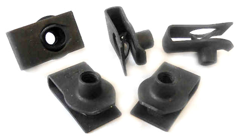 "5 pack 1/4""-20 Universal Body Fender Extruded U-Nuts"