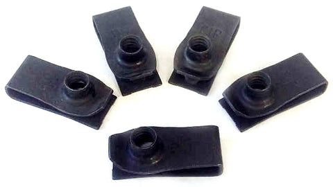 "5 pack 1/4""-20 Extruded Fender U-Nut 25/32"" Center Hole"
