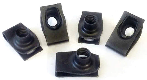 "5 pack 5/16""-18 Universal Extruded Fender U-Nuts"