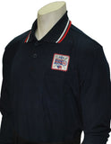 BBS301DX- Smitty Performance Mesh Umpire Long Sleeve Shirt with Dixie Patch - Available in Black, Navy and Powder Blue