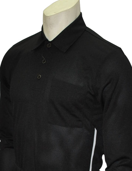 BBS311-Smitty Major League Style Long Sleeve Umpire Shirt - Available in Black and Carolina Blue