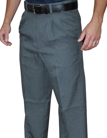 BBS374CG-Smitty Pleated Base Pants with Expander Waist Band - Available in Charcoal Grey