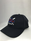 HT306DX-6 Stitch Flex Fit Umpire Hat - Available in Black and Navy